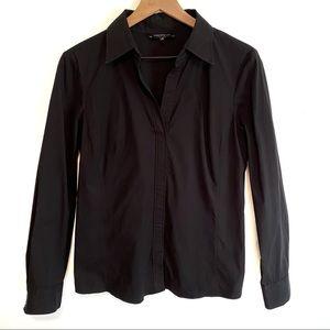 LAFAYETTE 148 NY  | Classic Black Collared Shirt